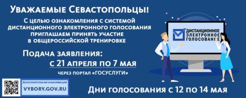 Всероссийская тренировка системы дистанционного электронного голосования.